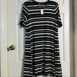 Ann Taylor LOFT Striped T-shirt Dress Small